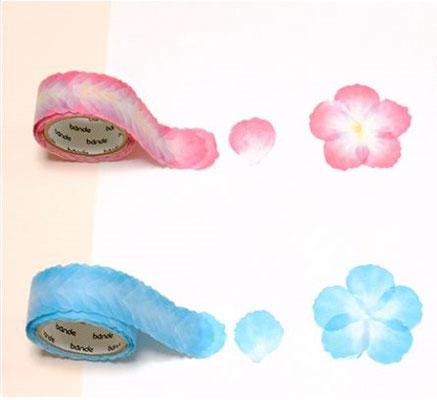 "Masking roll stickers ""Petals pink & blue"""