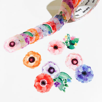 "Masking roll stickers ""Anemone"""