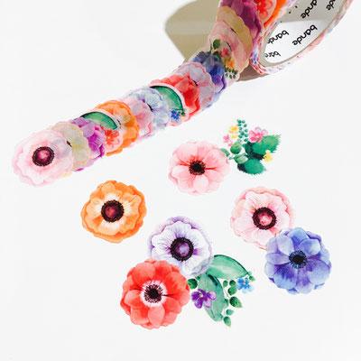 "Masking roll stickers ""Anemone"""