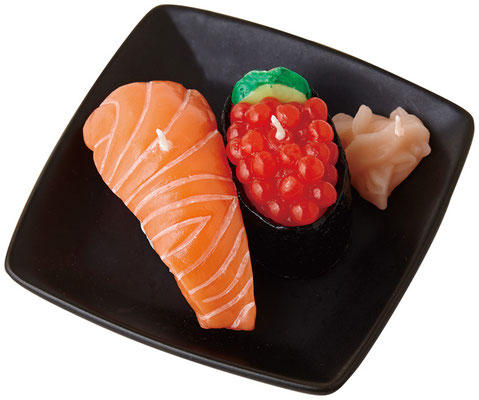 * Sushi candles