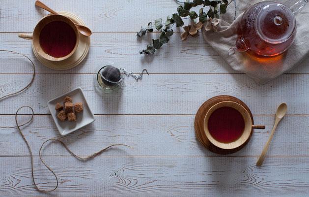 bamboo teacap & saucer