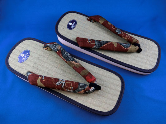 "* Japanese Tatami Sandal ""Dragon"""