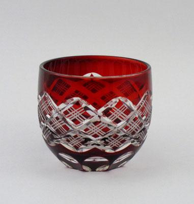 """*Edo-kiriko """"guinomi sake cup"""" Yarai Pattern - blue -"""