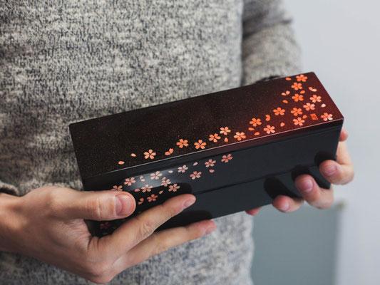"""*Bento box """"Akane-Sakura"""" 2-Tier, 840 ml"""
