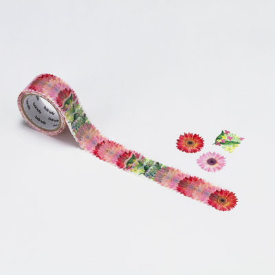 "Masking roll stickers ""Gerbera-pink"""