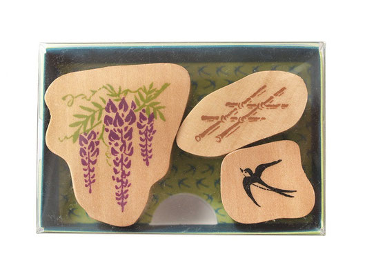 Stamp set FUJI flower