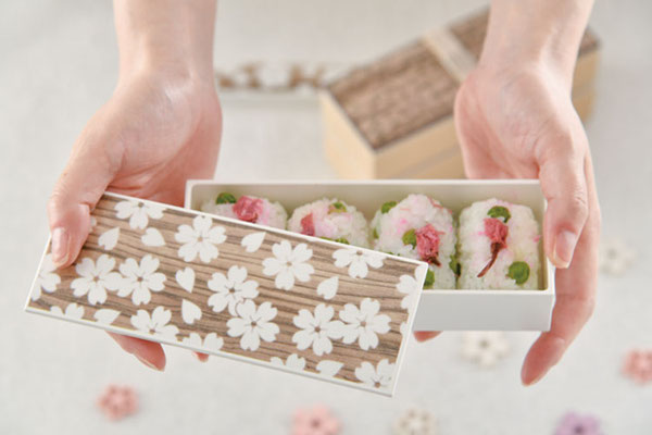 "*Bento box ""Sakura Mokume"" 2-Tier, 560 ml"