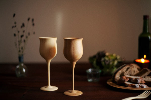 bamboo wine glass