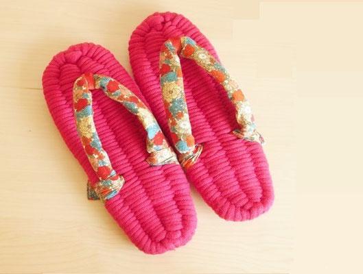"* room sandal ""MERI"" - pink stripe -"