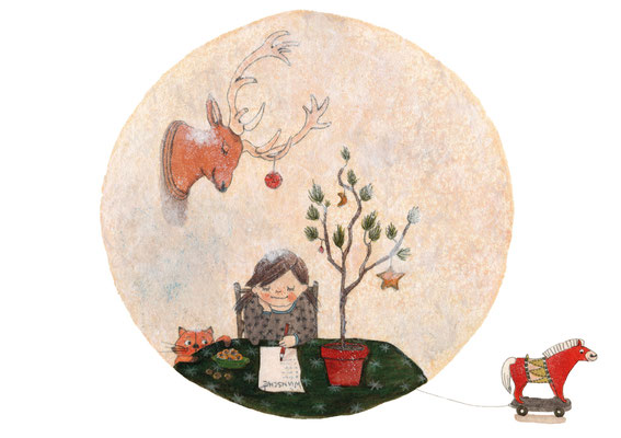 Illustration für Postkartenmotiv für SOS Kinderdörfer, Charity Award 2018