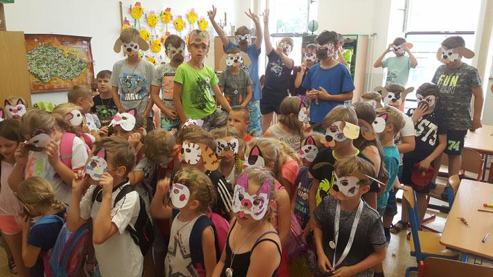 Präsentation der fertigen Masken