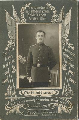 Soldat aus Freiburg (Bild: Archiv Oehler)