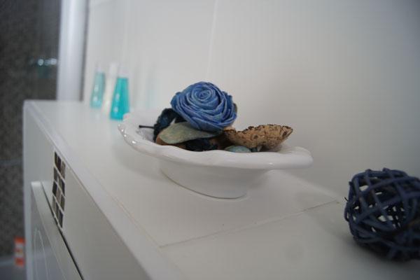 Detail im schön ausgestatteten Badezimmer