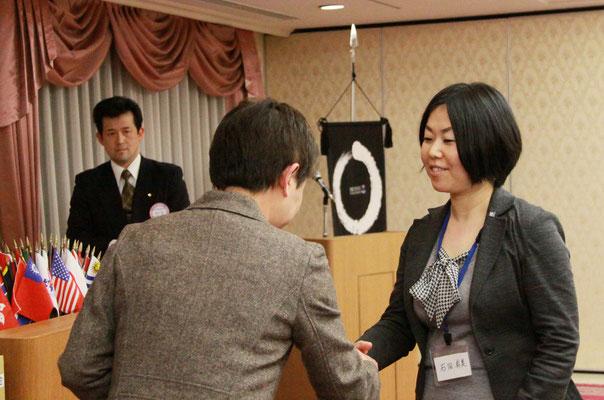 石田有美さん入会式