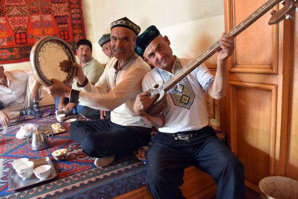 Musiker im Teehaus