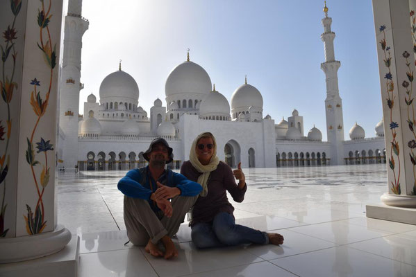 in der Grand Zayed Moschee in Abu Dhabi