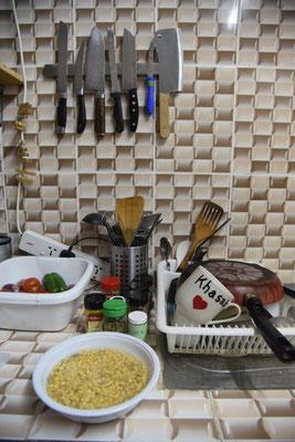bei Sandra in der Küche