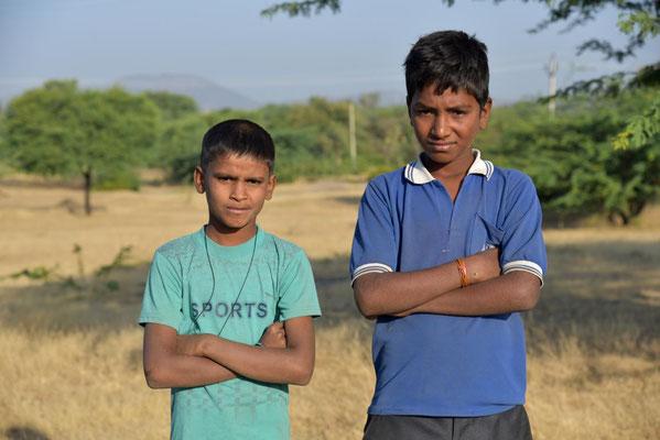 morgens um 6 Uhr in Rajasthan - wir wurden entdeckt