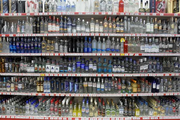 das Vodkasortiment hat nicht aufs Bild gepasst....
