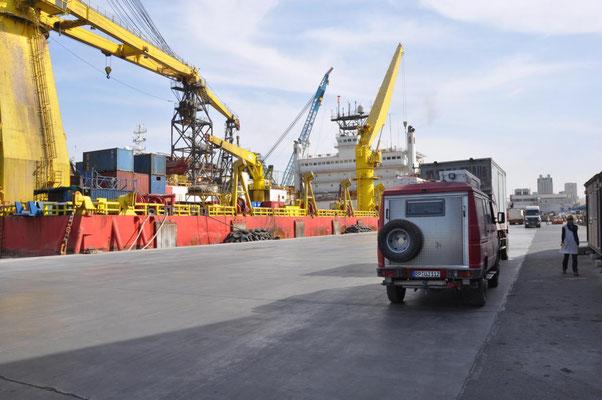 im Hafen von Sharjah