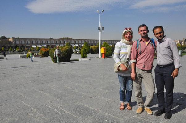 am Imam Square nach einer netten Unterhaltung mit einem Iraner