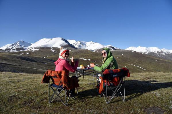 auf dem Kara-Ketsche Pass 3400 Meter