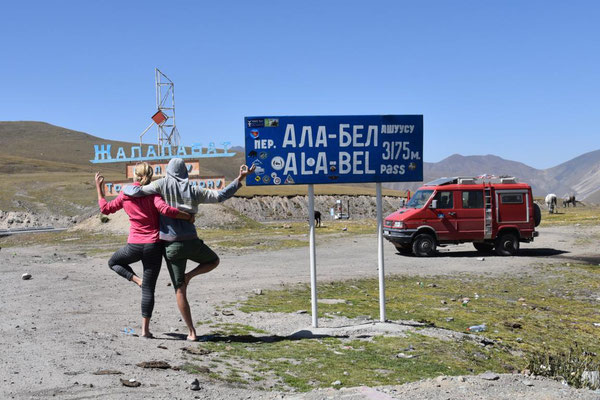 mal wieder ein hoher Pass - nichts Neues in Kirgistan