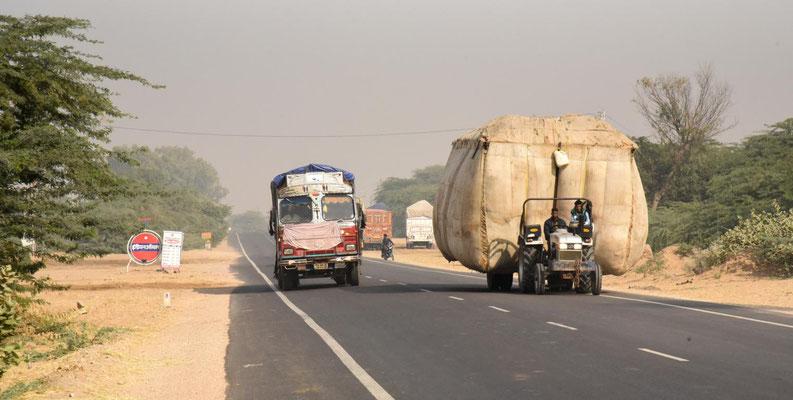 eine eher gemütliche Straße in Punjab