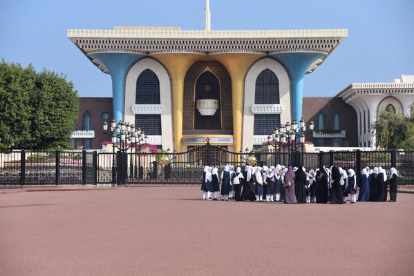 vorm Sultanspalast - Eintritt verboten