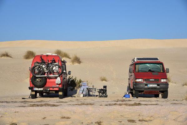 unser Camp vor den Sugar Dunes