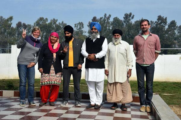 mit Familie Singh