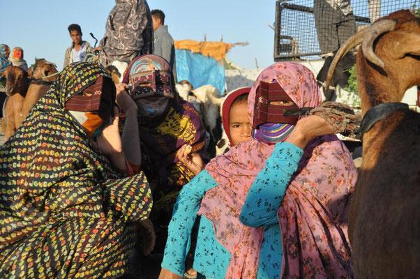 auf dem Markt in Minab