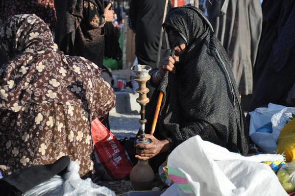schwarze Burqa