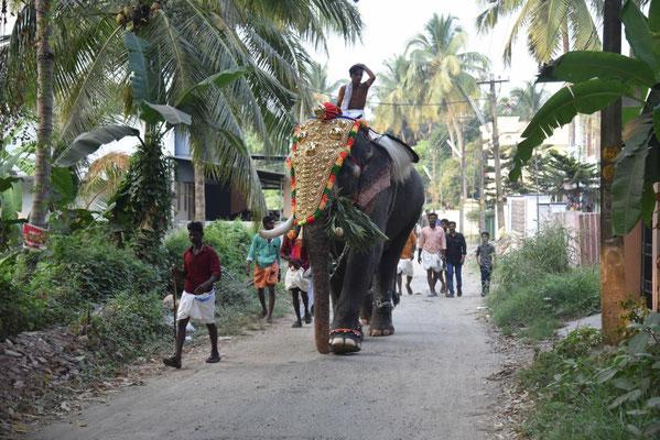 Tempelfest mit Umzug