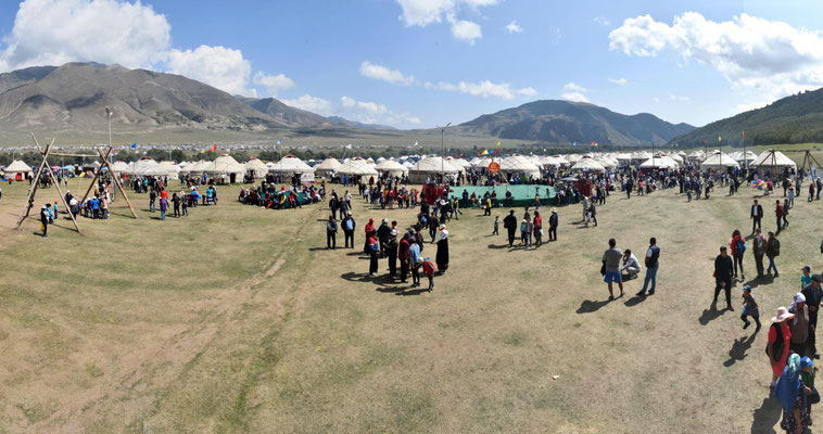 ein Blick auf einen kleinen Teil des Festivalgeländes