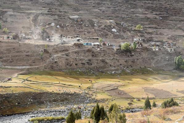 Dorf im Astore Valley