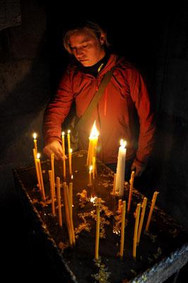 Kerze für das Gelingen unserer Reise