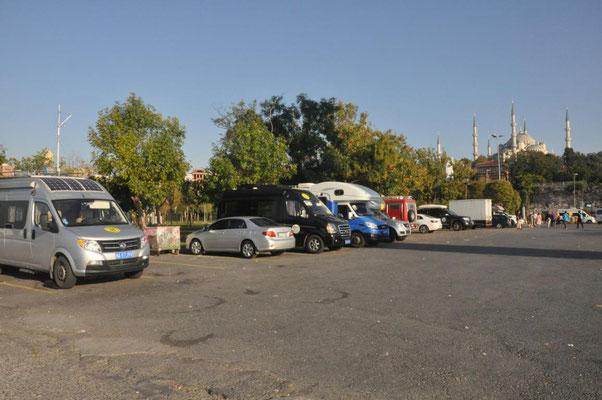 unser Parkplatz in Istanbul /