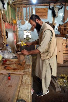 Shafgat bei der Arbeit