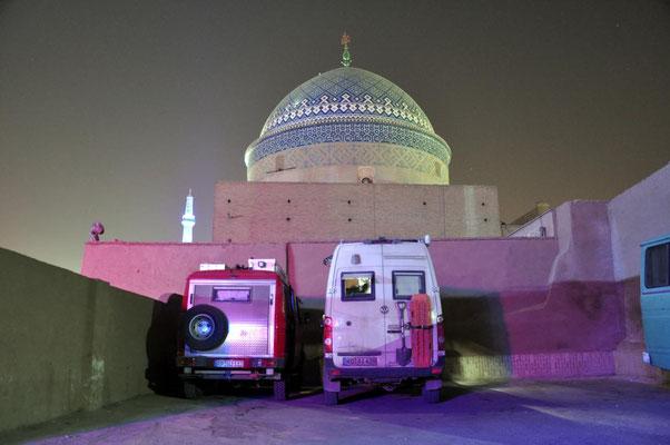unser Stellplatz in Yazd