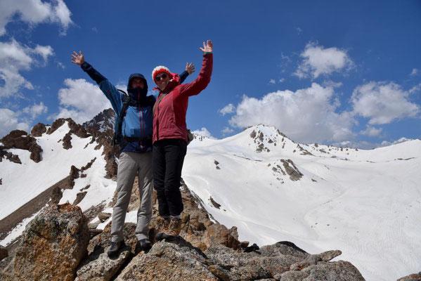 auf dem 3400m hohen Gipfel