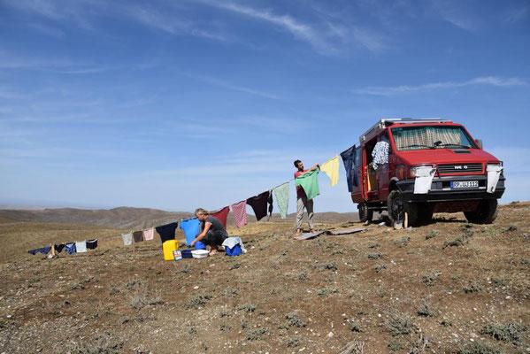 Waschtag bei den Schymonskis