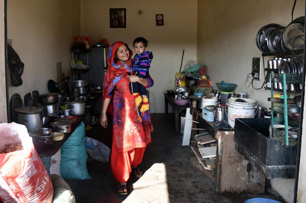 Blick in eine indische Küche