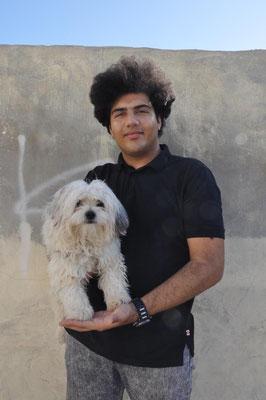 Iman und Hund Coco