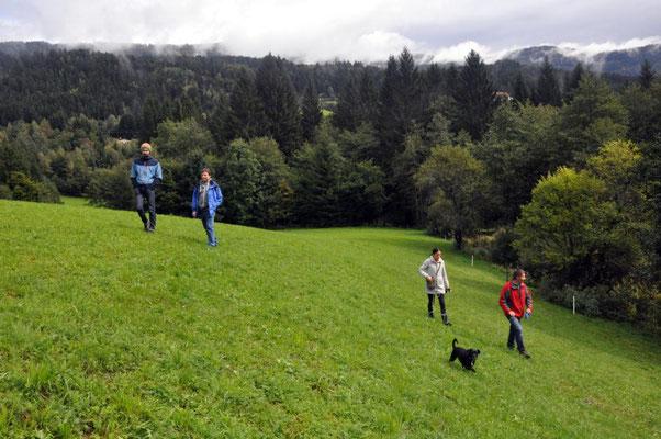 Spaziergang mit Rudi, Kerstin, Franco & Hund Gina