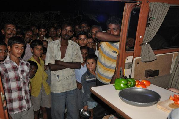 ein ganz normaler Abend in Indien