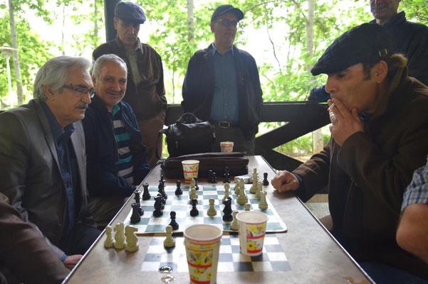 Schachspieler im Park Laleh