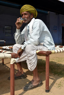 Rajasthani bei seiner Cay - Pause