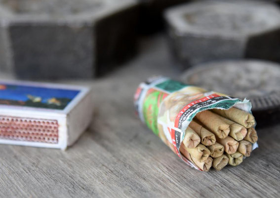 indische Beedis - kleine Zigaretten