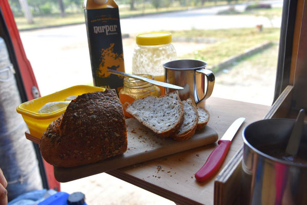 leckeres Körnerbrot zum Frühstück